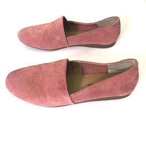 LUCKY BRAND Brettany Pink Rose Suede Slip On Shoes